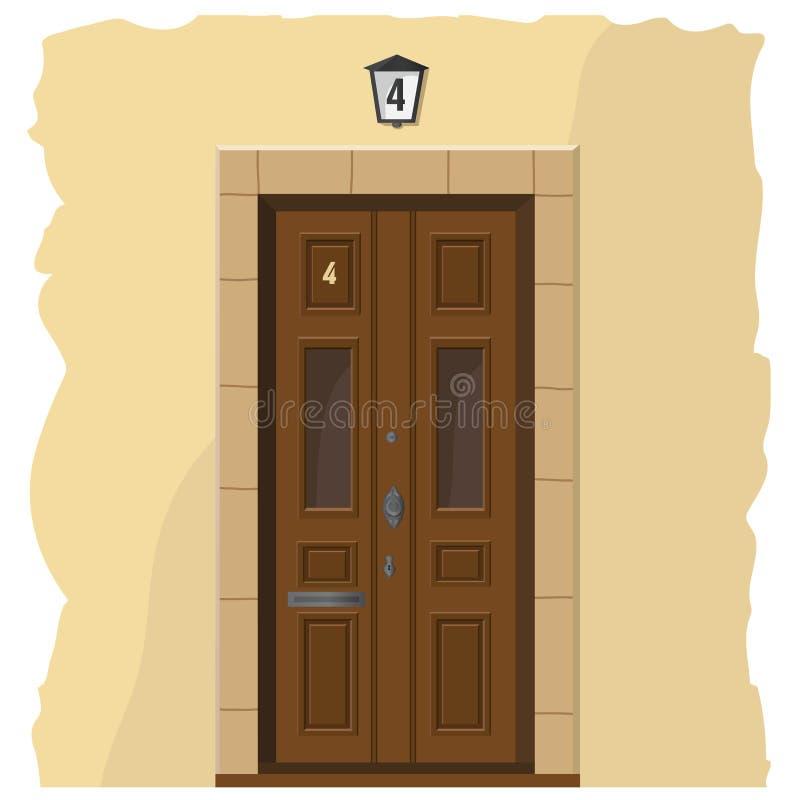 gammalt trä för dörr vektor illustrationer