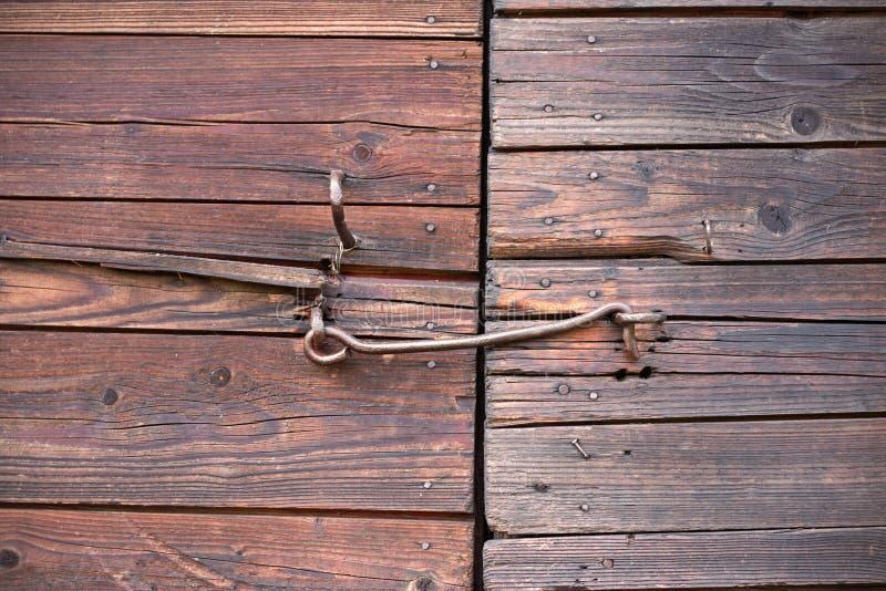 gammalt trä för dörrar arkivfoton