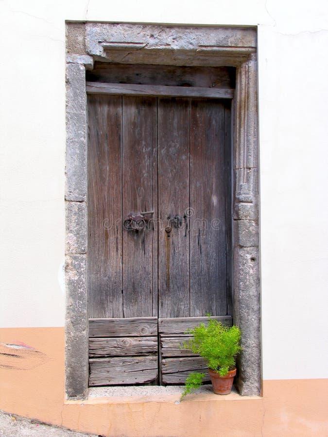 gammalt trä för dörrar arkivbilder
