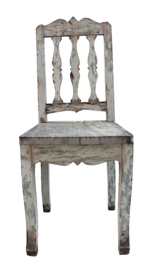 gammalt trä för stol arkivfoton
