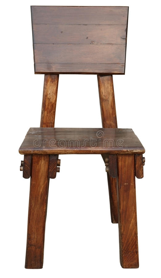 gammalt trä för stol fotografering för bildbyråer