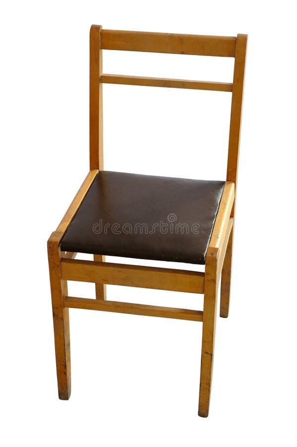 gammalt trä för stol royaltyfri bild