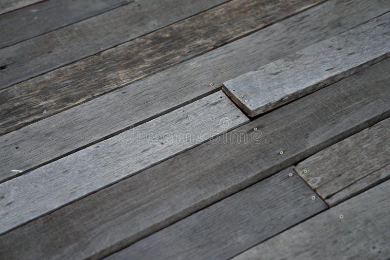 gammalt tr? f?r golv arkivfoto