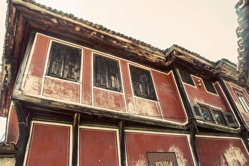 Gammalt traditionellt bulgarian hus royaltyfria bilder