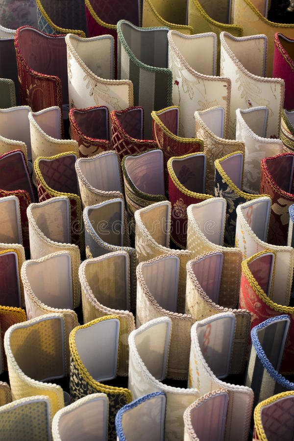 Skärm av lampshades arkivbild