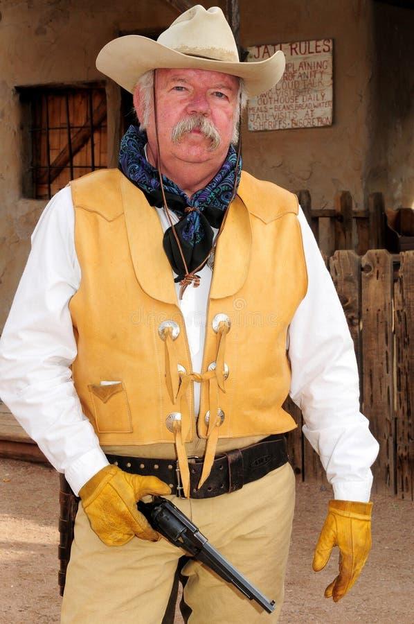 gammalt västra för gunfighter royaltyfri bild