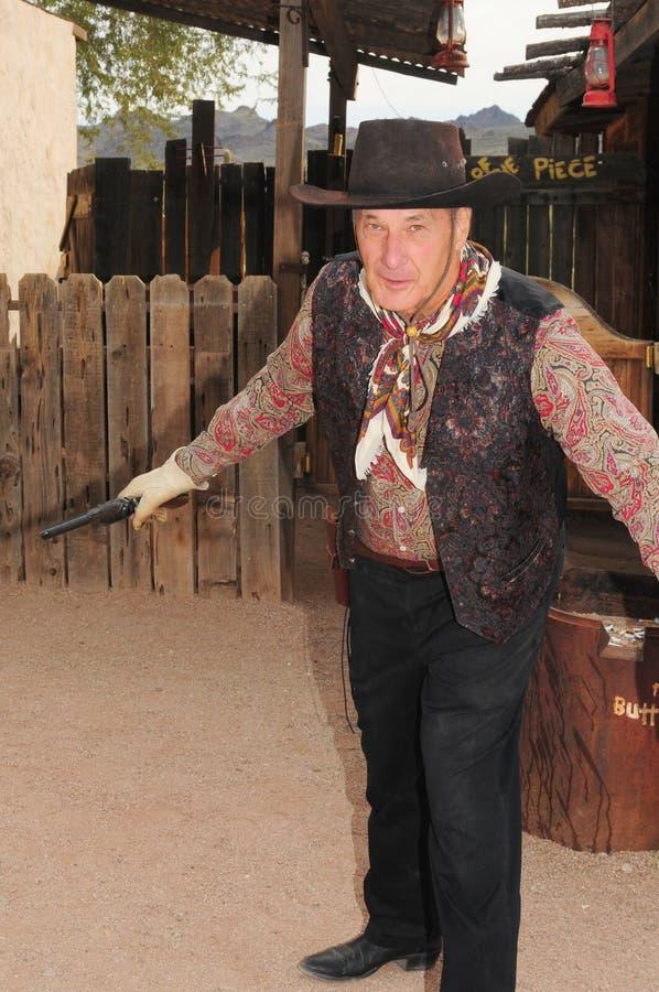 gammalt västra för gunfighter royaltyfria bilder