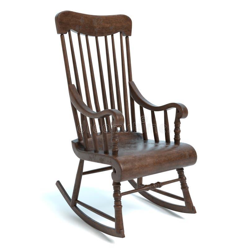 gammalt vaggande för stol royaltyfri illustrationer