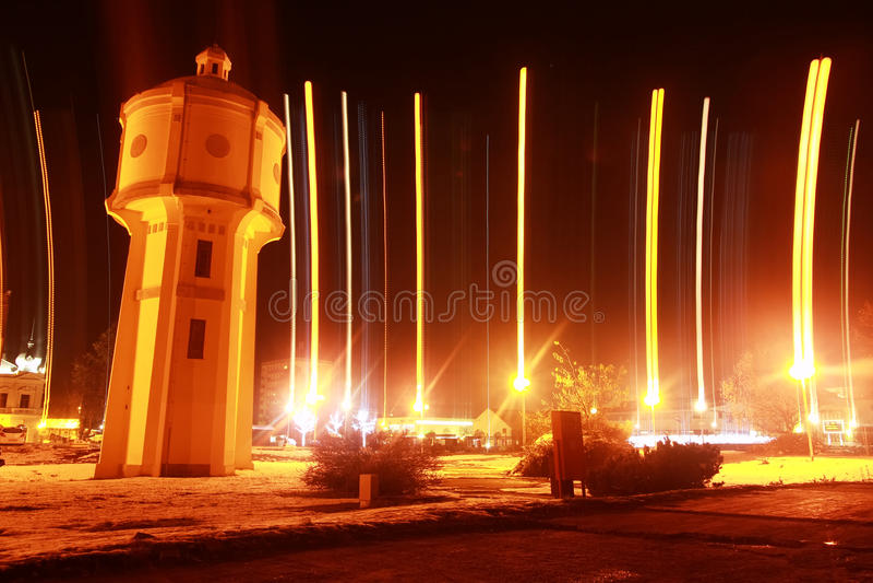 Gammalt vattentorn i Vukovar royaltyfria bilder