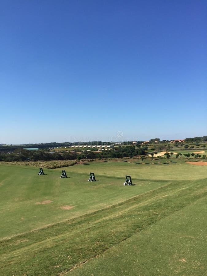 Gamme d'entraînement de golf photos libres de droits