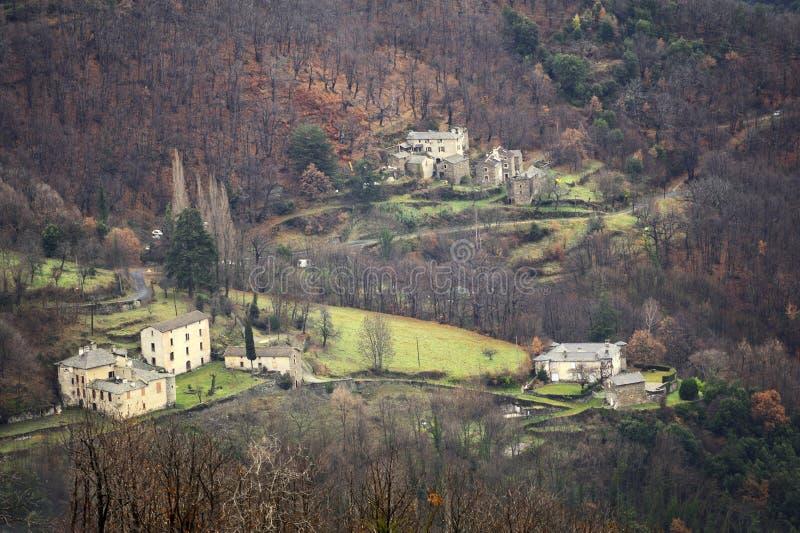 Gamme de montagne de Cevennes image libre de droits