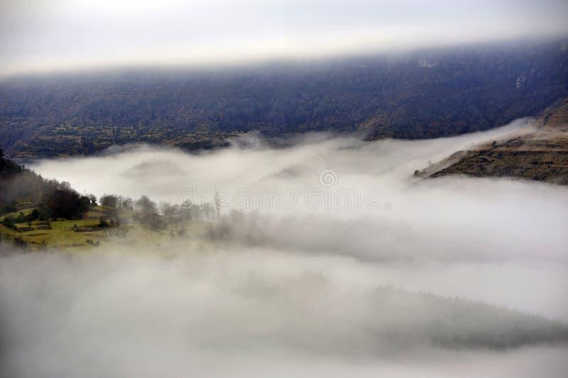 Gamme de montagne de Cevennes photos libres de droits