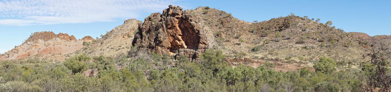 Gamme orientali di MacDonnell, Australia fotografia stock libera da diritti