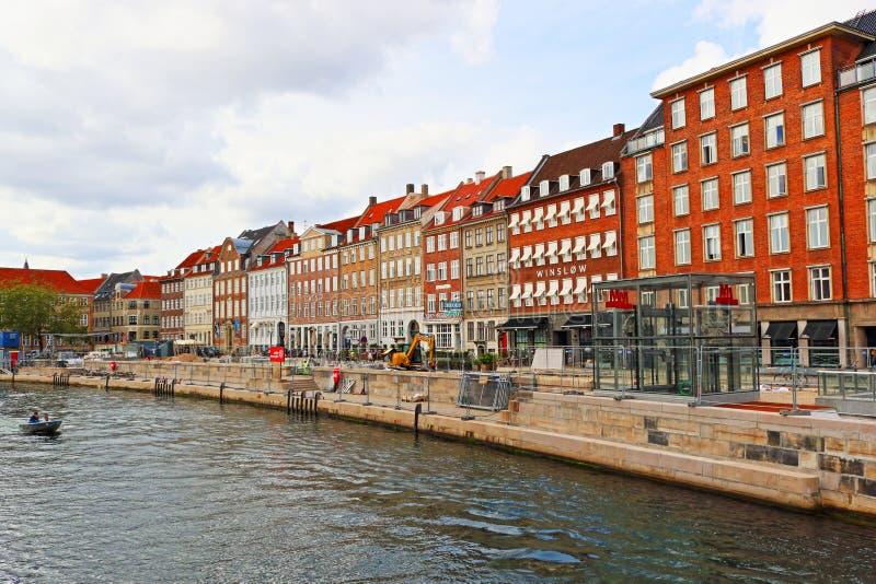 Gammel Strand Colour houses Copenhagen Denmark imagem de stock royalty free