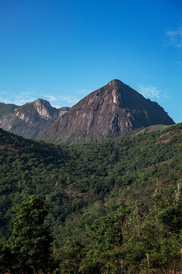 Gammes de montagne occidentales de ghats au Kerala, Inde photos stock