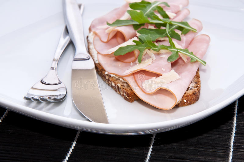 Download Gammon on bread stock photo. Image of cutlery, beef, sandwich - 24758838
