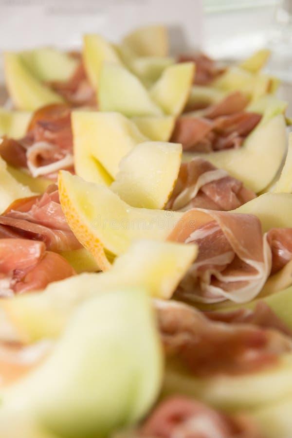 Gamon et melon de miellée images stock