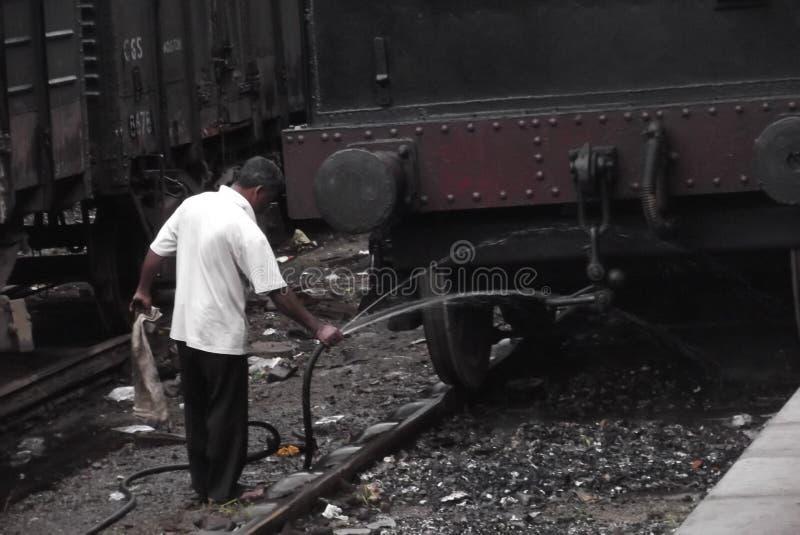 Gampola järnvägsstation - srikanka royaltyfri foto
