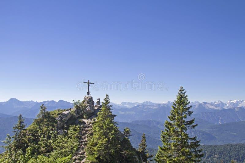 Gamskopf - petit sommet dans la région de Brauneck photos libres de droits