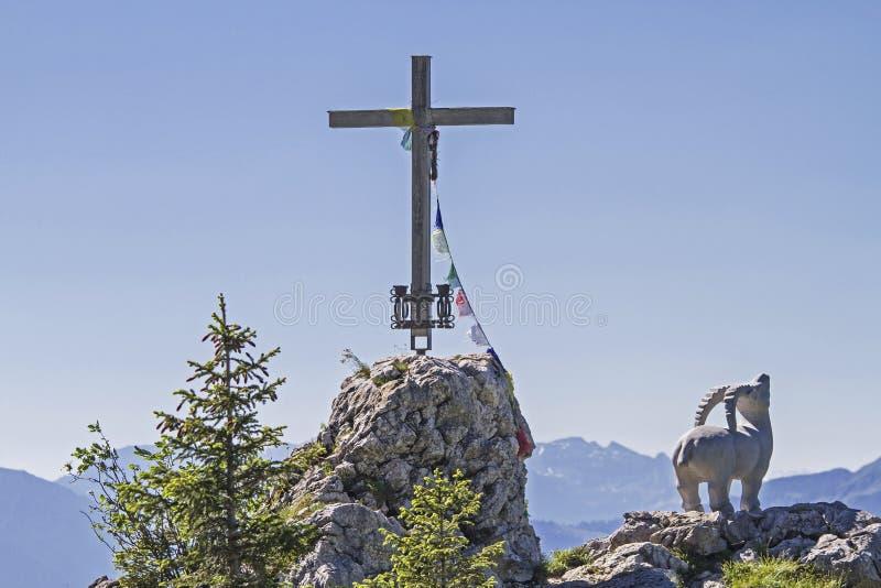 Gamskopf - petit sommet dans la région de Brauneck image libre de droits