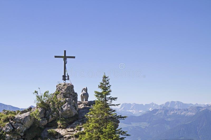 Gamskopf - petit sommet dans la région de Brauneck photos stock