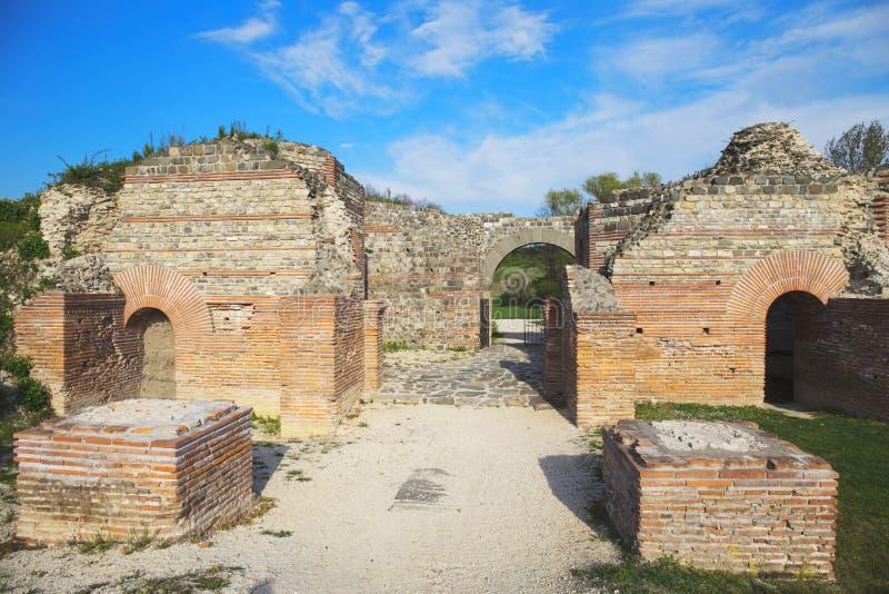 Gamzigrad, Felix Romuliana, αρχαίες ρωμαϊκές καταστροφές παλατιών στοκ φωτογραφία με δικαίωμα ελεύθερης χρήσης