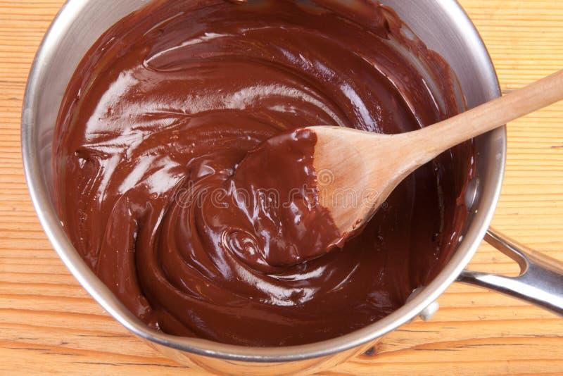 Ganache del chocolate fotos de archivo