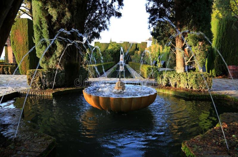 Ganada Hiszpania Ogródy Generalife zdjęcia stock