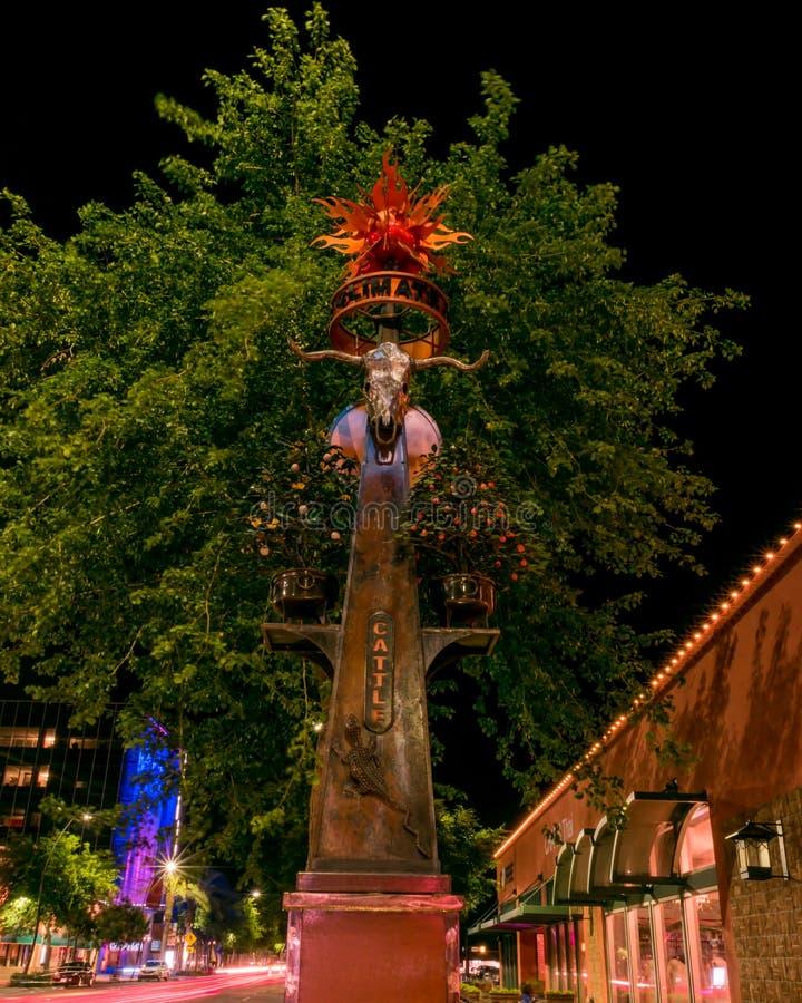 Ganado conmemorativo en el cerero Arizona imagen de archivo libre de regalías