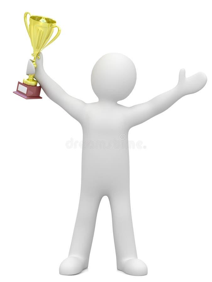 Ganador. stock de ilustración