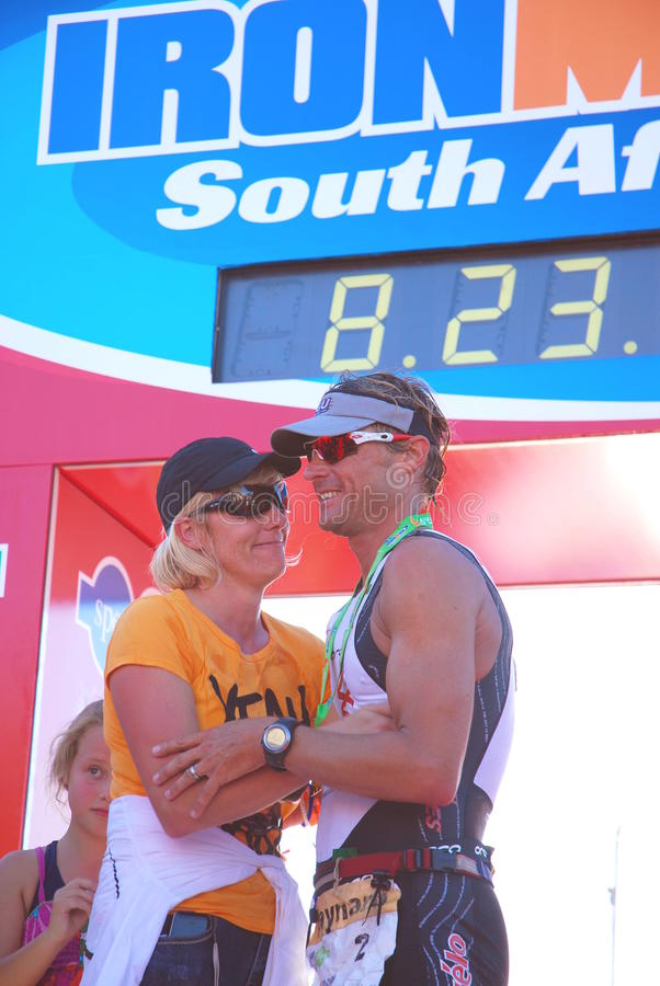Ganador 2010 Ironman SA imagen de archivo libre de regalías