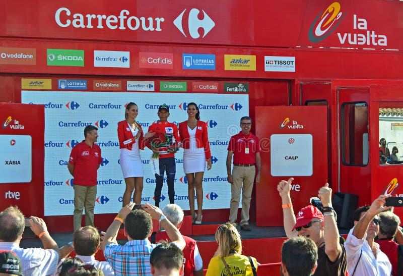 Ganador de Nairo Quintana del La Vuelta España 2016 imagenes de archivo