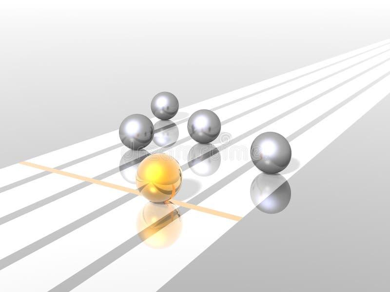 Ganador de oro ilustración del vector