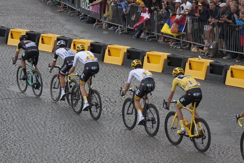 Ganador del Tour de Francia 2017 imagen de archivo libre de regalías
