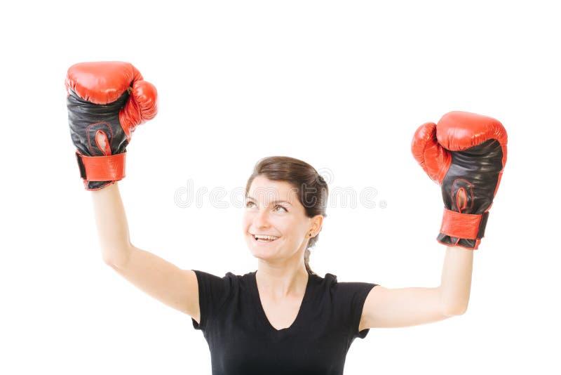 Ganador en el boxeo imagen de archivo
