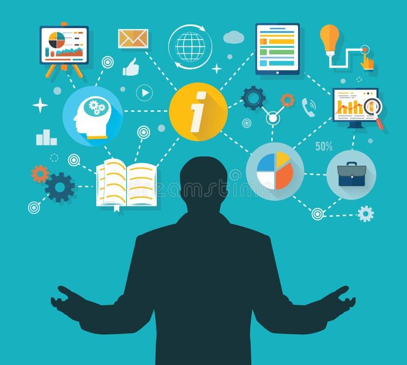 Ganador en la administración de empresas y la gestión stock de ilustración