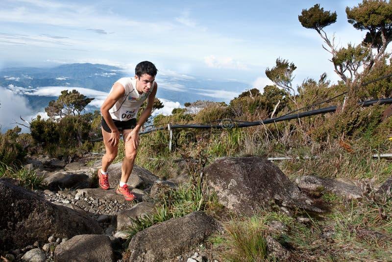 Ganador Killian Burgada en Mt Kinabalu CLimbathon imagen de archivo libre de regalías