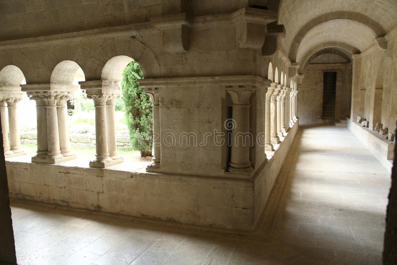 Ganagobie abbotskloster royaltyfri foto