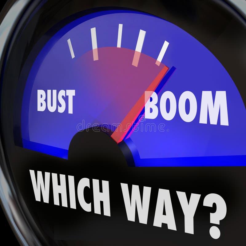 Ganancias del fracaso del éxito de la medida del indicador de las palabras del auge o del busto contra el Los ilustración del vector
