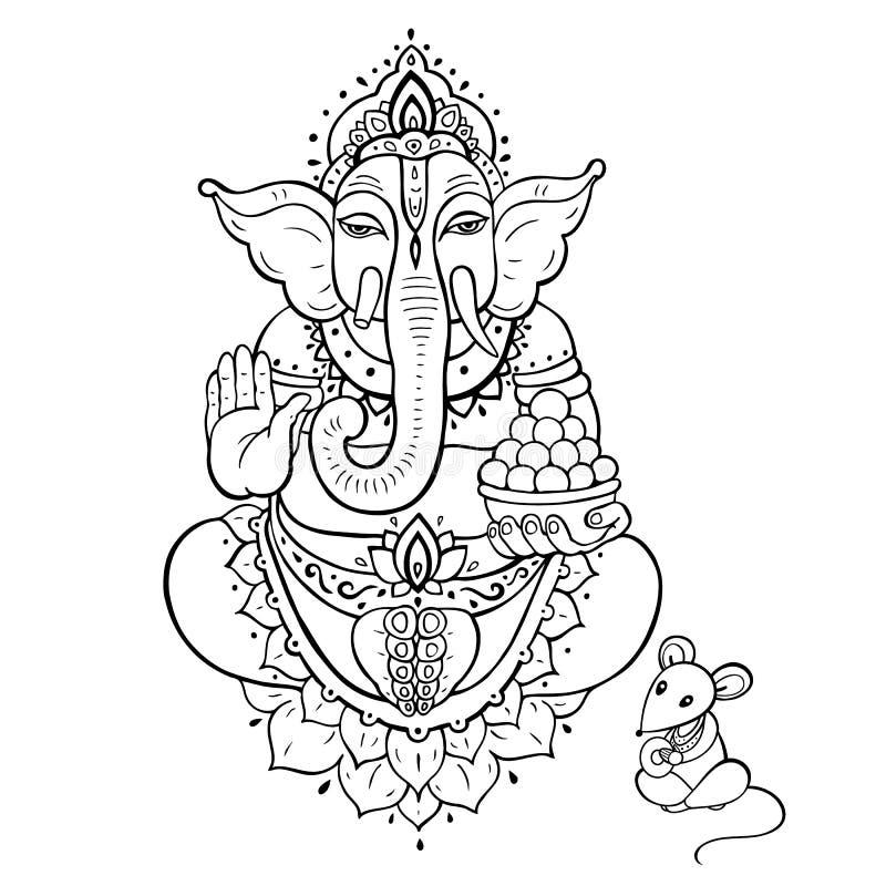 Ganapati Lord Ganesha ilustración del vector