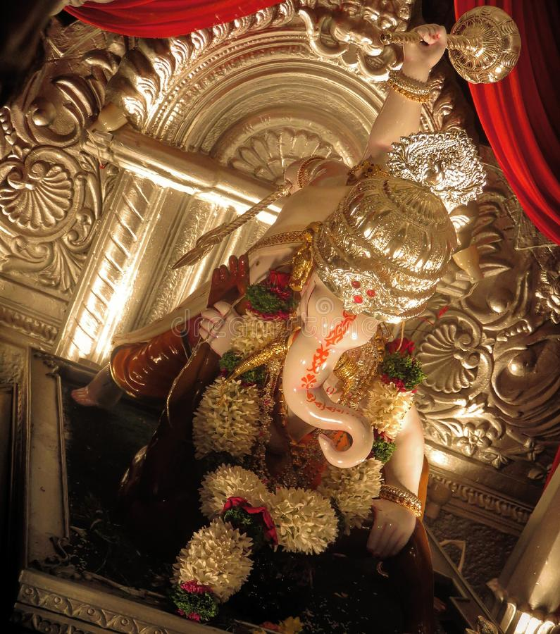 Ganapati mandal do mitra de Rajaram imagens de stock royalty free