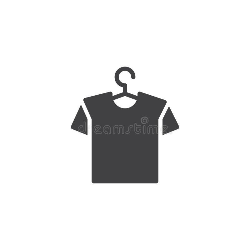 Gancho com ícone do vetor da camisa ilustração royalty free