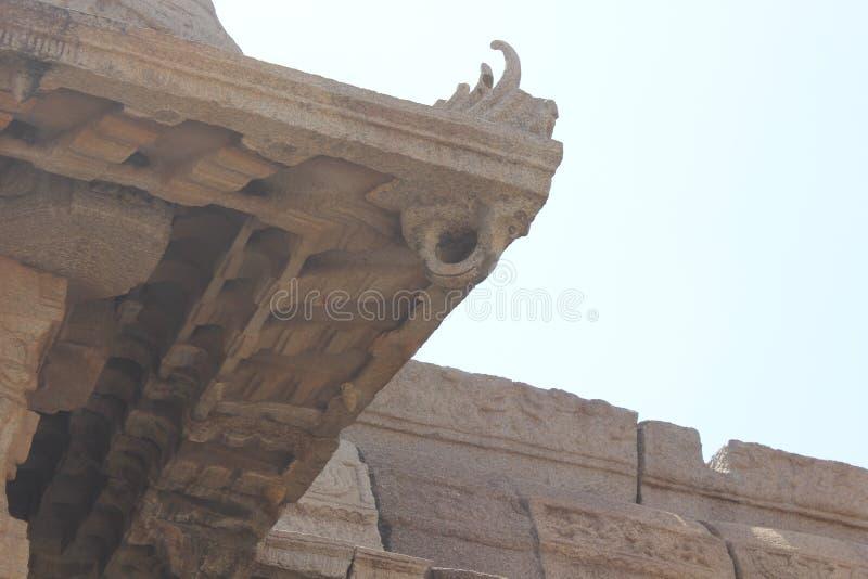 Gancho del techo del templo de Hampi Vittala fotos de archivo libres de regalías