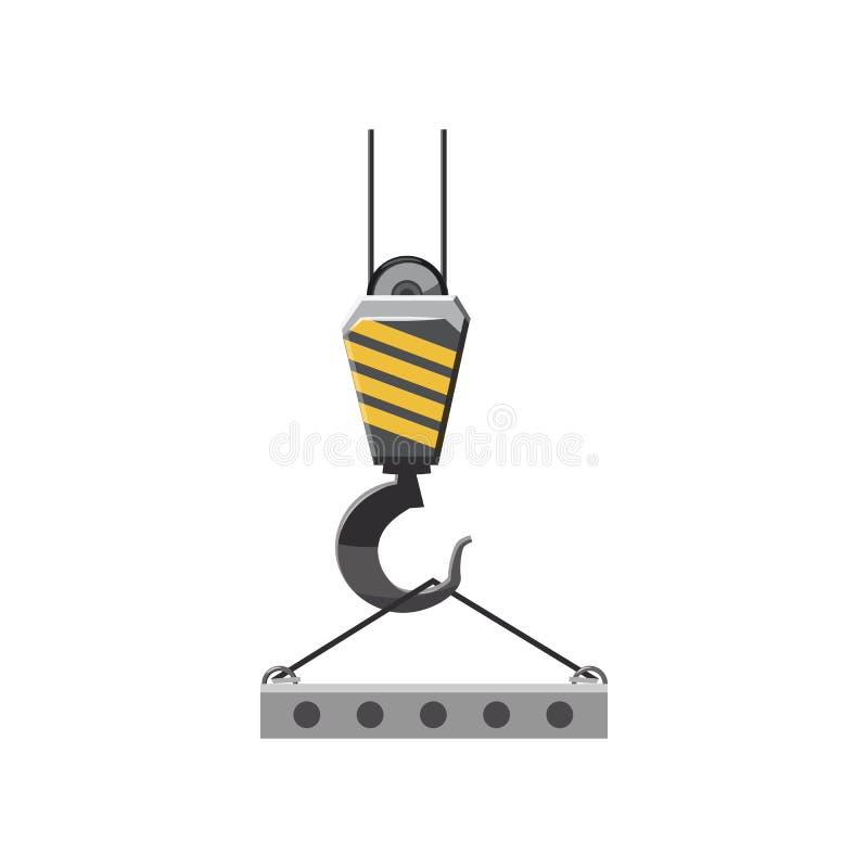 Gancho industrial com ícone reforçado da laje de cimento ilustração royalty free