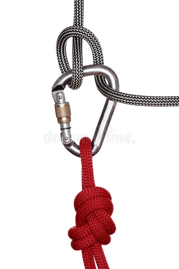 Gancho y cuerdas imagen de archivo libre de regalías