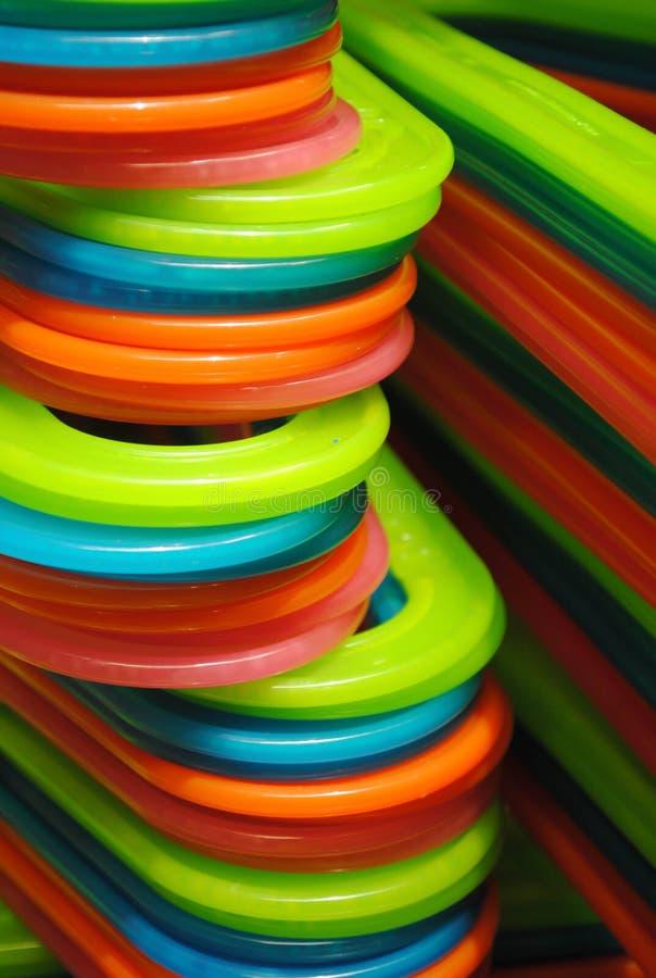 Ganchos coloridos brilhantes foto de stock royalty free