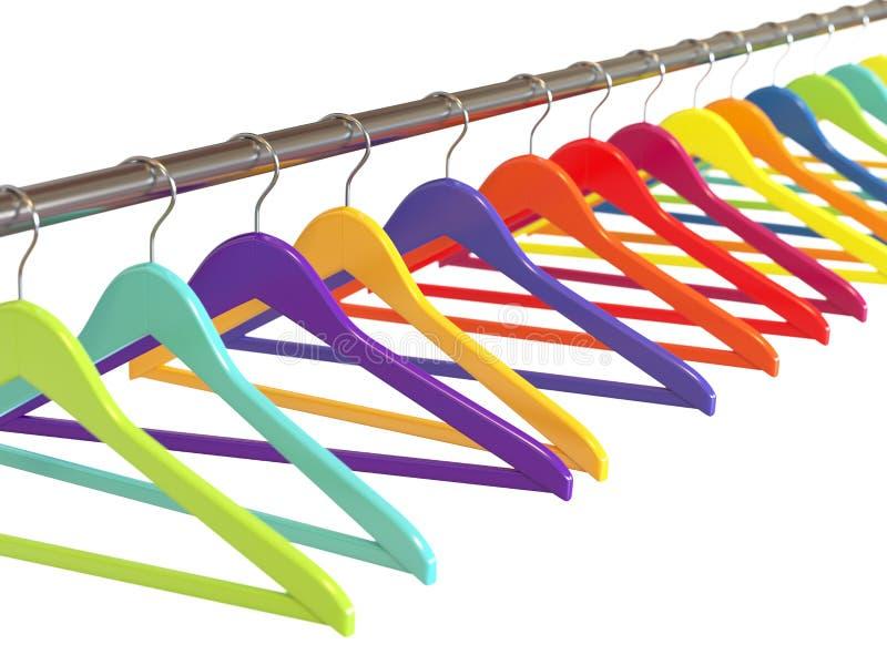 Ganchos de roupa coloridos ilustração do vetor