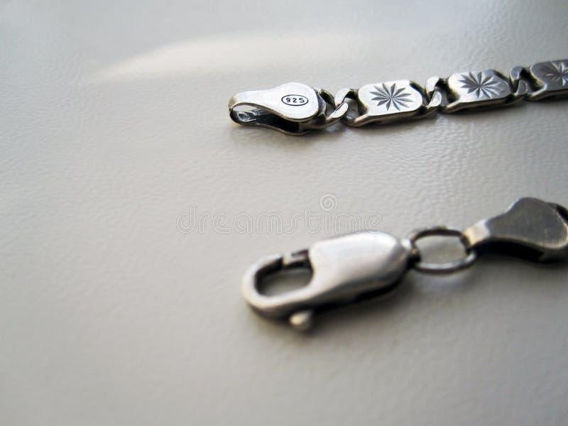 Gancio a catena d'argento fotografia stock