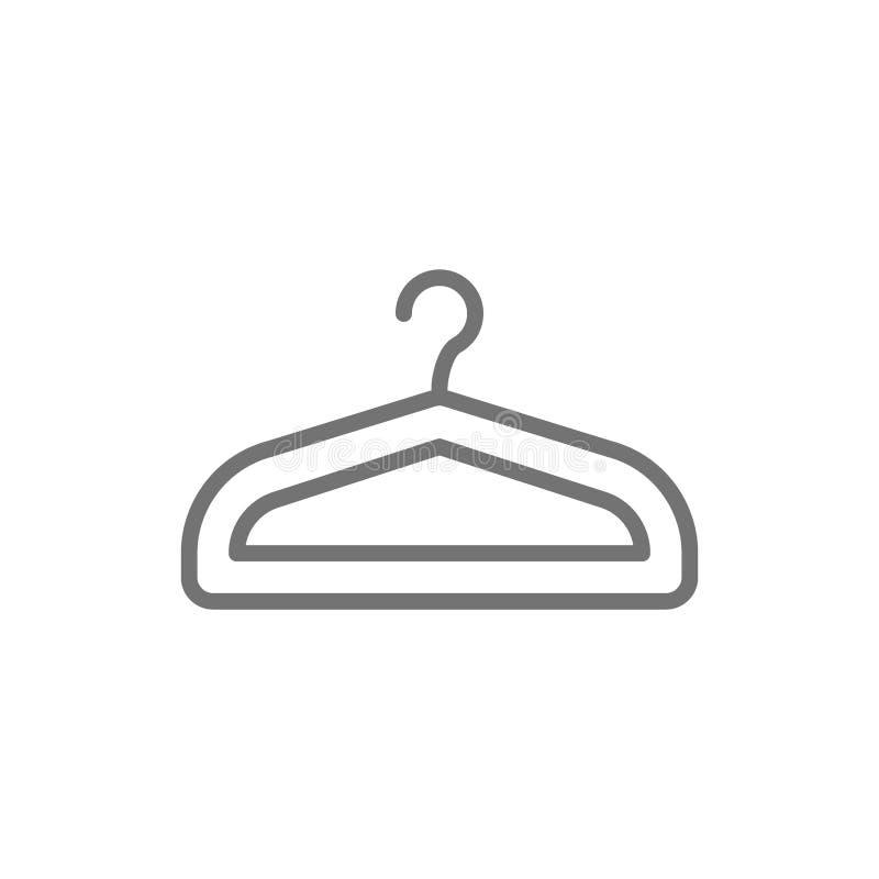 Gancio, guardaroba, linea di servizio di lavaggio a secco icona royalty illustrazione gratis