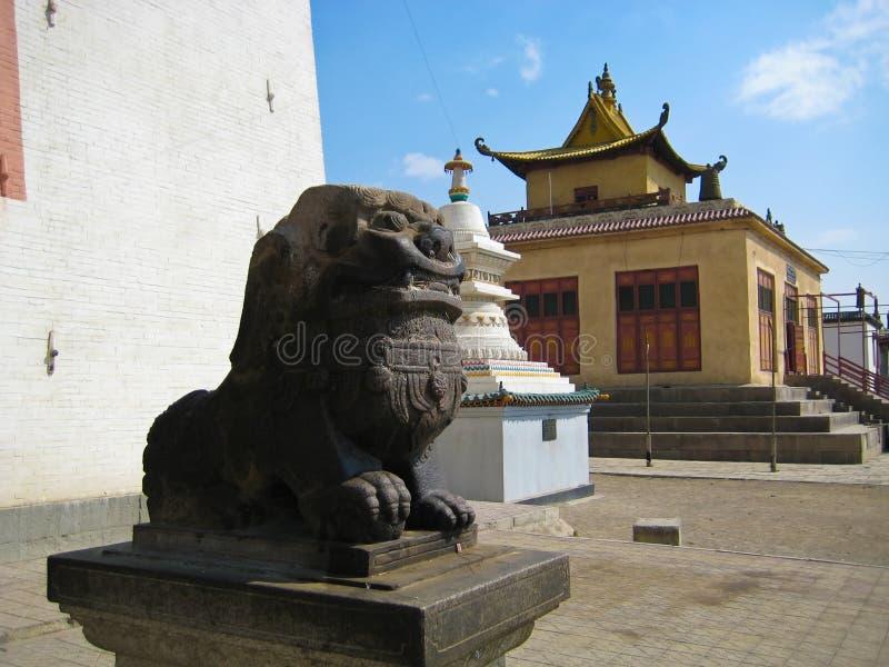 Gandan Khiid Monastery royalty free stock photos